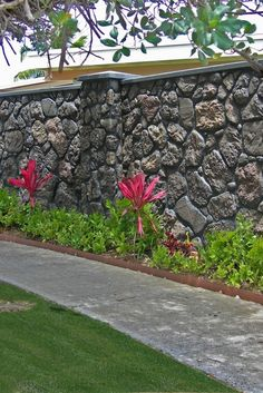 Whether you prefer the look of Lava or Coral on your property, Verti-Crete has the look you want. These walls are the same design with different color stains. Fence Wall Design, Balcony Railing Design, Garden Gym Ideas, Garden Projects, Compound Wall Design, Mansion Designs, Coral Walls, Village House Design, Outdoor Stone