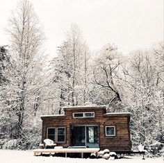 A 260 square feet tiny house in Asheville, North Carolina. Designed by Nanostead.