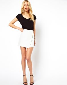 white skirt with wrap detail via ASOS. need for summer
