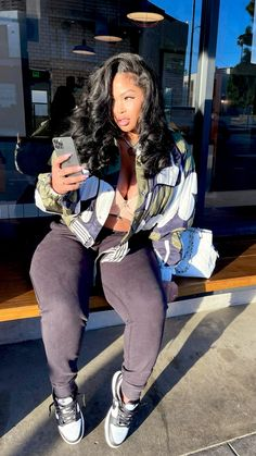 Baddie Outfits Casual, Chill Outfits, Cute Swag Outfits, Dope Outfits, Stylish Outfits, Black Girl Fashion, Teen Fashion, Fashion Outfits, Mode Streetwear