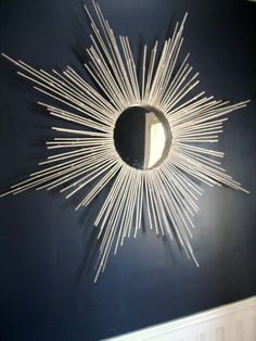 DIY Bamboo sunburst mirror