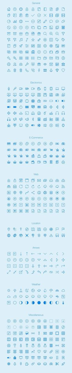 Free download: 450 outline icons