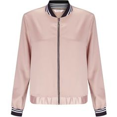 Miss Selfridge Petites Pink Bomber Jacket