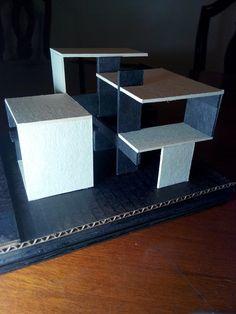 Maqueta Estructura Concept Models Architecture, Maquette Architecture, Architecture Model Making, Architecture Concept Drawings, Interior Architecture, Modern Villa Design, Industrial Design Sketch, Cube Design, Arch Model