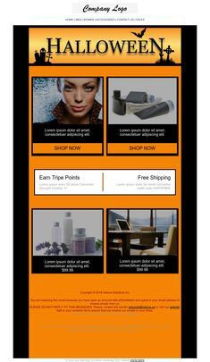 Halloween 1 - Email Template Business flyer Maker #Promotion #eCommerce #Shopping Email Templates, Newsletter Templates, Flyer Maker, Email Marketing Design, Halloween 1, Business Flyer, Lorem Ipsum, Ecommerce, Promotion