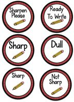 Pencil Cup Labels and other freebies