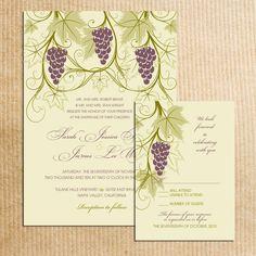 Vineyard Themed Wedding invitations by RazzleDazzleDesign on Etsy. $2.00 USD, via Etsy.