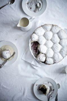 Blackberry Buns with Warm Vanilla Sauce