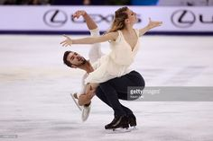 Gabriella Papadakis and Guillaume Cizeron of France skates in Ice Dance Free Dance during the...