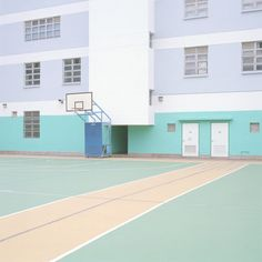 Get colour inspiration from photographs of empty sports courts