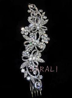 Crystal Rhinestone Bridal Jewellery Hairpiece Wedding Headband Event Hair Comb