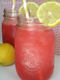 Cherry Lemonade Raspberry Slushie recipe from @Jenn L @ Clean and Scentsible