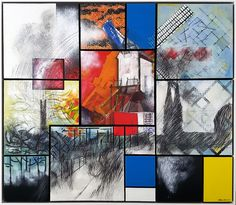 """My painting submitted for the exhibition / competition """"Mondrian Inspired"""" by Galerie Kunstation in Uden! More information: www.alphonsarts.com"""