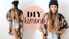 DIY Kimono (extra large scarf + needle&thread + scissors)