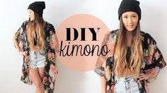 DIY Kimono (extra large scarf + needle&thread + scissors)