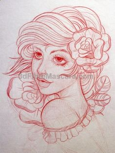 This gives me a really good idea for gypsy tattoo Tattoo Sketches, Tattoo Drawings, I Tattoo, Art Drawings, Love Tattoos, Beautiful Tattoos, Arabic Tattoos, Beautiful Eyes, Catrina Tattoo