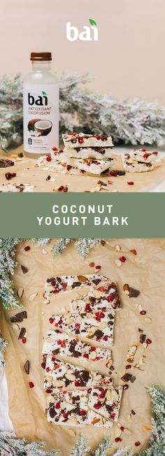 Your tail will definitely be wagging after you try this tasty twist on yogurt. Starring Bai Molokai Coconut, with just 5 calories and no artificial sweeteners, it's flavorful bark with no bite. Coconut Recipes, Fruit Recipes, Candy Recipes, Snack Recipes, Dessert Recipes, Dessert Ideas, Healthy Desserts, Just Desserts, Healthy Food