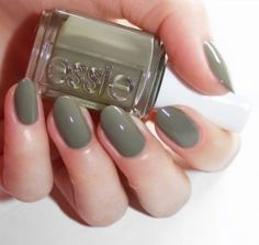 essie   WILD NUDES 2017   exposed' a mossy green with a slight white overcast