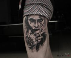 Timur Rumit @rumittattoo BLACKOUT tattoo collective @blackouttattoocollective #blackouttattoocollective #rumit #tattoo #realistic #sleeve #realism #ink #inked #blacktattoo #girl #portrait #smoke