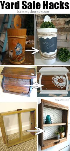 Yard Sale Hacks: Stop Overlooking Items Like These! Kammy's Korner: 10 Yard Sale Hacks: Stop Overlooking Items Like These!Kammy's Korner: 10 Yard Sale Hacks: Stop Overlooking Items Like These! Thrift Store Outfits, Thrift Store Shopping, Thrift Store Crafts, Crafts To Sell, Diy Crafts, Thrift Store Finds, Upcycled Crafts, Repurposed Items, Thrift Store Furniture
