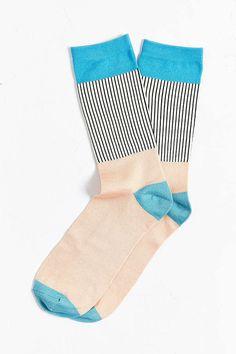 Lightweight Block Pleated Rib Sock - Urban Outfitters
