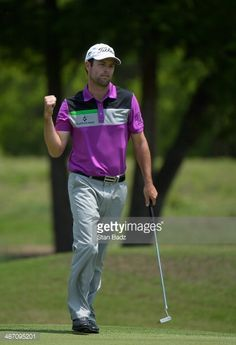 Robert Streb reacts to a birdie putt on the 2nd during the Final Round of the Zurich Classic of New Orleans at TPC Louisiana on April 27, 2014 in Avondale, Louisiana.