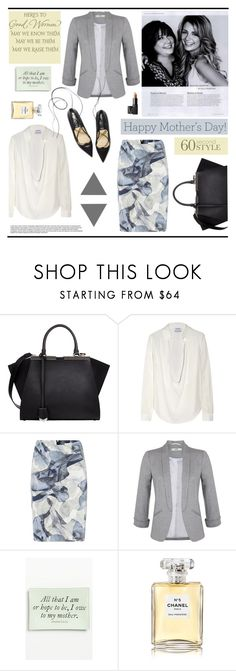"""60-Second Style: Borrowed From Mom"" by marina-volaric ❤ liked on Polyvore featuring Fendi, Anthony Vaccarello, HUGO, Miss Selfridge, Ben's Garden, Chanel, NARS Cosmetics, momstyle and 60secondstyle"