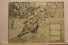 Aurelian Ghita, pencil on paper. Cowboy