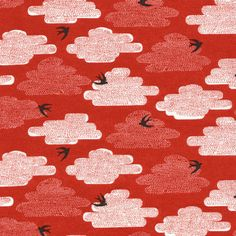contemporary upholtered fabric   Free as a Bird Fabric - contemporary - upholstery fabric - by ...