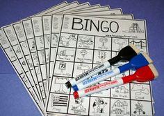 Tip: spel voor lange auto-ritten. Auto bingo. Lees hier hoe je het kunt maken en spelen.