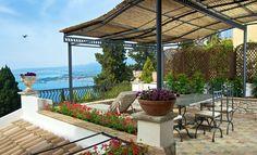 Terrace of Hotel Villa Carlotta, Taormina, Sicily