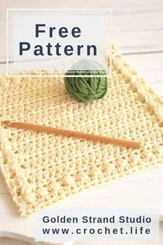 Free crochet dishcloth pattern by / Sunny Hollow Crochet Washcloth Pattern - Crochet . Knitted Washcloth Patterns, Knitted Washcloths, Crochet Dishcloths, Crochet Patterns, Crochet Blankets, Crochet Geek, Free Crochet, Crochet Double, Simple Crochet