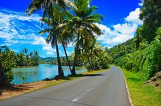 One of my favourite things to do in French Polynesia was cycle alongside the lagoon in Huahine.
