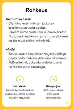 Vahvuuskortit - Positive Learning Learn Finnish, Healthy Mind, Self Improvement, Self Help, Psychology, Mindfulness, Study, Positivity, Learning