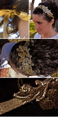 DIY vintage applique headband