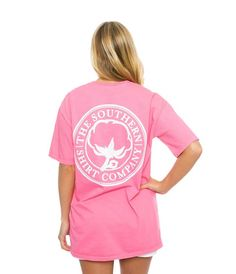 Southern Shirt Company Seaside Logo Short Sleeve Shirt in Lily Pink 3T021-LP-SS