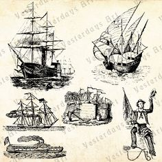 Nautical #9 contains 6 beautiful vintage images. They can be used in scrapbooking, greeting cards, personal art, a book, a t-shirt or whatever.
