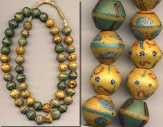 African King Beads, glass bicones made in Europe, used and collected today in Africa.