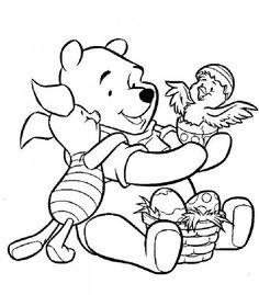 winnie the pooh easter coloring pages easter wallpapers
