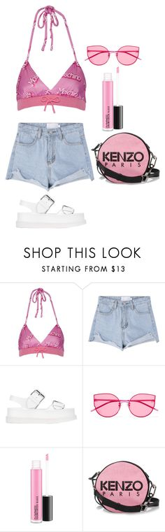 """summer"" by guccibunny ❤ liked on Polyvore featuring Moschino, STELLA McCARTNEY, Gentle Monster and Kenzo"