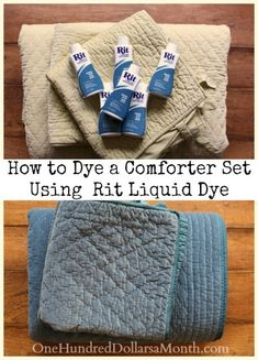 How to Dye a Comforter Set Using a Front Load Washing Machine and Rit Liquid Dye | One Hundred Dollars a Month