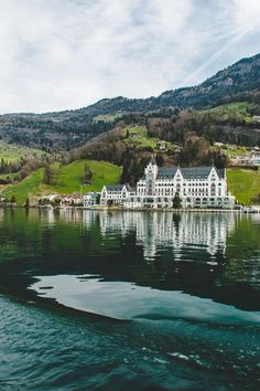 Switzerland Travel Inspiration - A beautiful day on the water in Lake Lucerne, Switzerland.