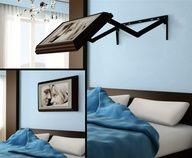 Keep your Bedroom Beautiful with this Amazing Hidden TV   DesignRulz