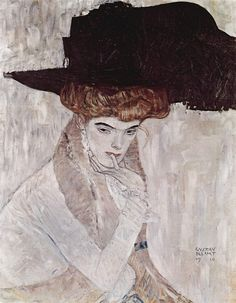 The Black Hat, Gustave Klimt