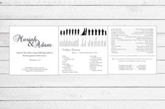 Trifold Silhouette Wedding Programs by WritefullySimple on Etsy, $50.00