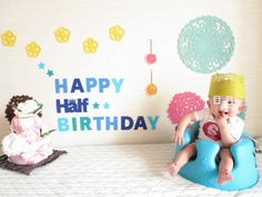 ハーフバースデーインテリア飾りつけデコレーション100均|神戸で子育て育児@子連れでお出かけ