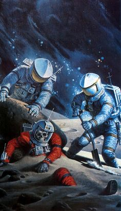 The One Who Stayed Behind by Darrell Sweet,  from Robert Sheckley's Star Seekers pictorial.