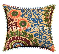 Multicolor Buckle Down Tiger Eyes Throw Pillow