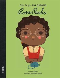 Rosa Parks war eine Bürgerrechtsaktivistin in den USA. Sie wuchs in Alabama auf, als dort noch Rassentrennung herrschte. Ihre Weigerung, ihren Sitzplatz im Bus an einen weißen Mann abzugeben, führte zur Abschaffung der Rassentrennung in öffentlichen Verkehrsmitteln.  Jede dieser Frauen, ob Künstlerin, Pilotin oder Wissenschaftlerin, hat Unvorstellbares erreicht. Dabei begann alles, als sie noch klein waren: mit großen Träumen. Marie Curie, Learning Cards, Fun Learning, Maya Angelou, Anne Frank, Amelie, Rosa Parks Book, Isabel Sanchez, Dream Book