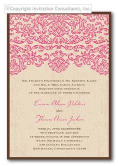 Pretty. Fuchsia Baroque - Wedding Invitations by Invitation Consultants. (Item # KR-TRCOT001-E )